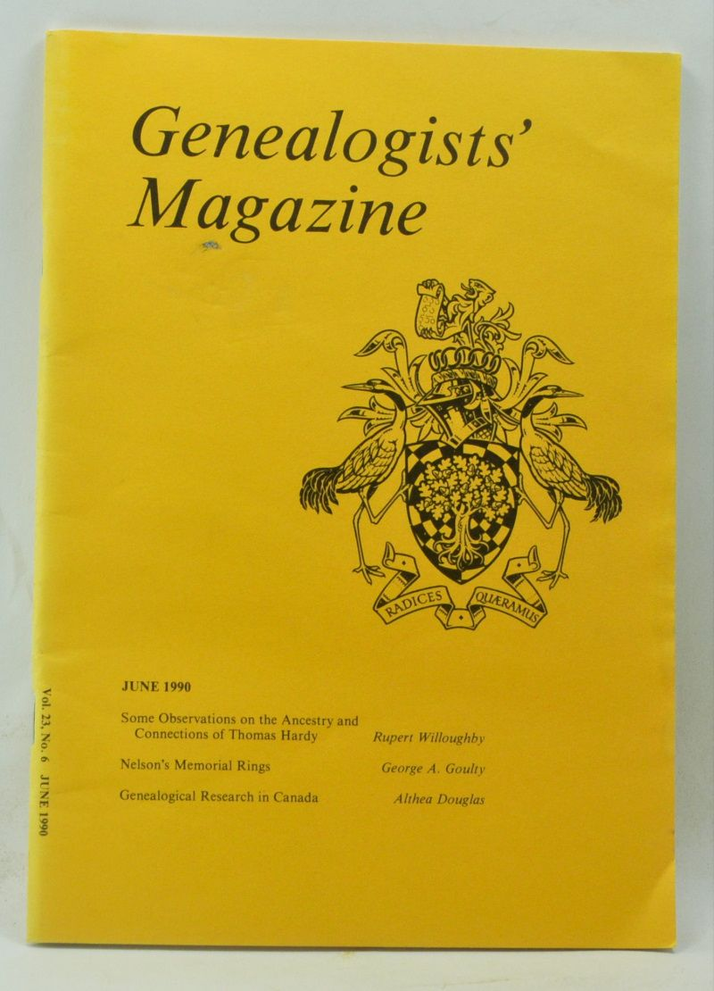 WILLOUGHBY, RUPERT; GOULTY, GEORGE A.; DOUGLAS, ALTHEA - Genealogists' Magazine: Journal of the Society of Genealogists, Volume 23, Number 6 (June 1990)