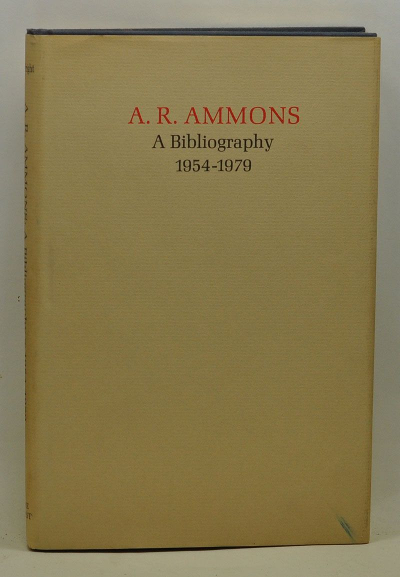WRIGHT, STUART - A.R. Ammons: A Bibliography 1954-1979