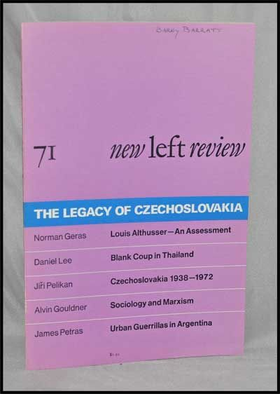 New Left Review, 71 (January-February 1972) : the Legacy of Czechoslovakia. Perry Anderson, Norman Geras, Daniel Lee, Jiri Pelikan, Alvin Gouldner, James Petras.