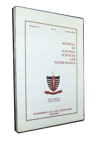 Journal of Natural Sciences and Mathematics, Vol. 41, No. 2 (October 2001): Proceedings of the Eighth National Symposium on Frontiers in Physics 20-22 November 2000, Government College, Lahore. M. Akhtar Shahid, G. Murtaza.