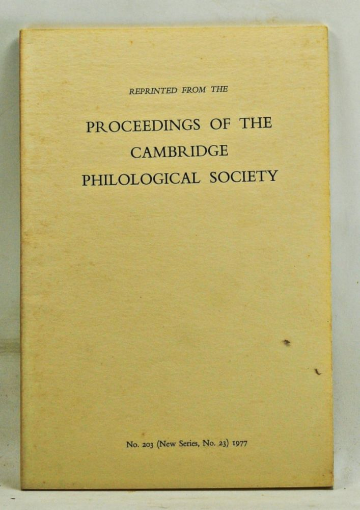 Diodorus Cronus and Hellenistic Philosophy (reprinted from the Proceedings of the Cambridge Philological Society, No. 203 (New Series, No. 23)). David Sedley.