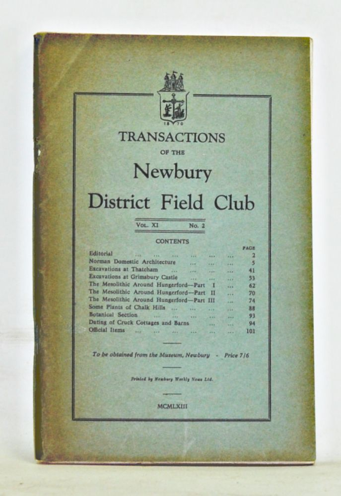 Transactions of the Newbury District Field Club, Volume 9, Number 2. Newbury District Field Club.