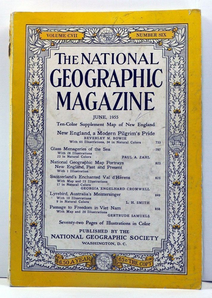 The National Geographic Magazine, 107, Number 6 (June 1955). Gilbert Grosvenor, Beverley M. Bowie, Paul A. Zahl, Georgia Engelhard Cromwel, L. H. Smith, Gertrude Samuels.
