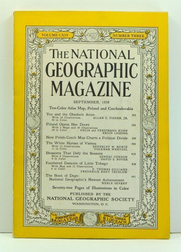 The National Geographic Magazine, Volume 114, Number 3 (September 1958). Melville Bell Grosvenor, Allan C. Jr. Fisher, Delia Kuhn, Ferdinand, Erich Lessing, Beverley M. Bowie, Volkmar Wentzel, Geneal Condon, David S. Boyer, E. Thomas Gilliard, Frederick Kent Truslow, Merle Severy.