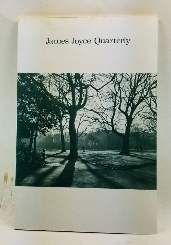 James Joyce Quarterly, Volume 11, Number 1 (Fall 1973). Thomas F. Staley, Robert Scholes, James Van Dyck Card, Robert Billings, Donald Zochert, John MacNicholas, Robert M. Scotto.
