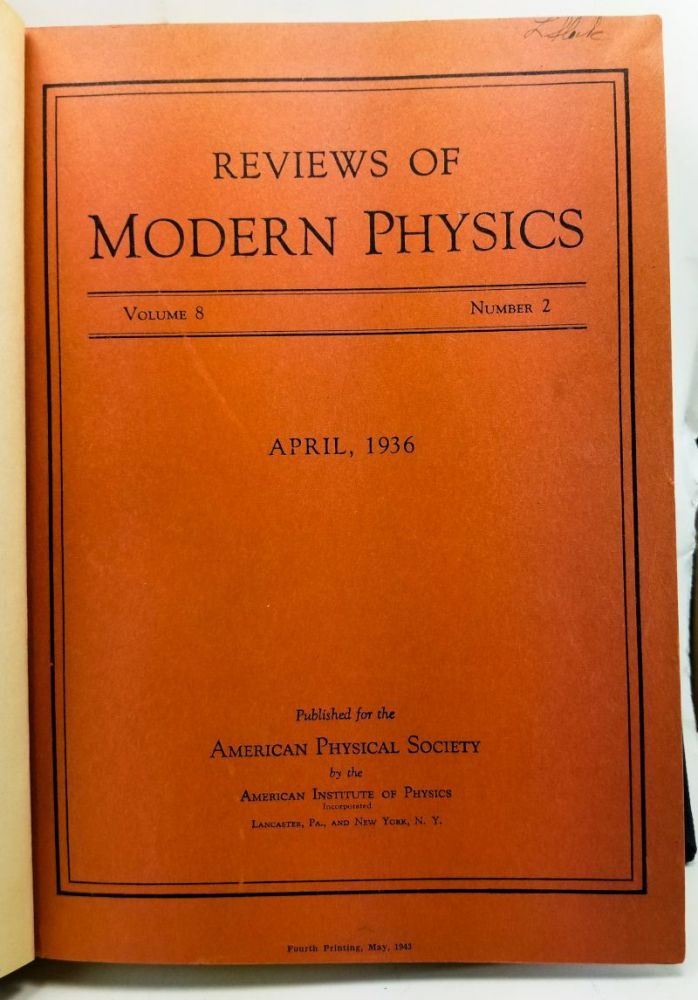 Nuclear Physics. A. Stationary States of Nuclei; B. Nuclear Dynamics, Theoretical; C. Nuclear Dynamics, Experimental Articles from Reviews of Modern Physics Volume 8, Number 2 (April 1936), 82-229; Volume 9, Number 2 (April 1937) 71-244; Volume 9, Number 3 (July 1937) 245-390. H. A. Bethe, R. F. Bacher, M. Stanley Livingston.