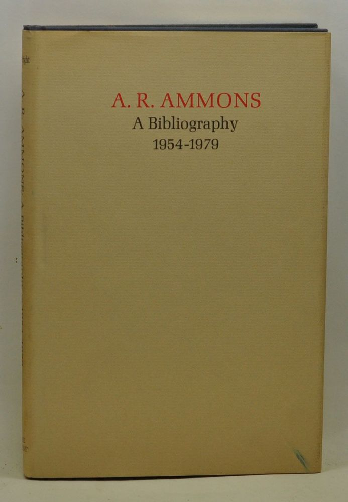 A. R. Ammons: A Bibliography 1954-1979. Stuart Wright.