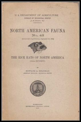 U. S. Department of Agriculture Bureau of Biological Survey, North American Fauna No. 43...