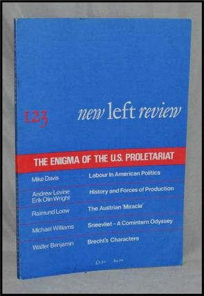 New Left Review, 123 (September-October 1980) : the Enigma of the U. S. Proletariat. Perry...