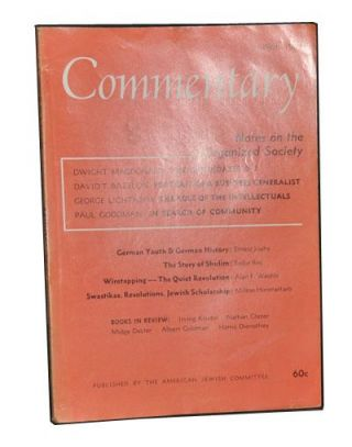 Commentary: A Jewish Review, Vol. 29, No. 4 (April 1960). Norman Podhoretz, Dwight MacDonald,...