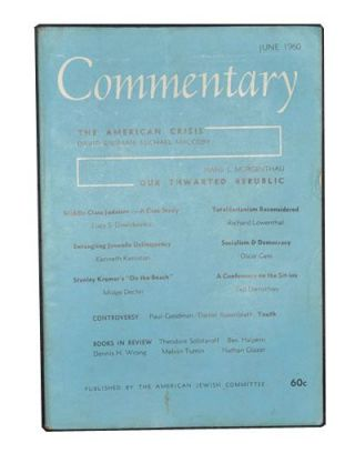 Commentary: A Jewish Review, Vol. 29, No. 6 (June 1960). Norman Podhoretz, David Riesman, Michael...