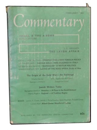Commentary: A Jewish Review, Vol. 31, No. 2 (February 1961). Norman Podhoretz, Gidon Gottleib, S....