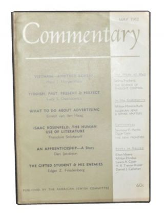 Commentary: A Jewish Review, Vol. 33, No. 5 (May 1962). Norman Podhoretz, Hans J. Morgenthau,...