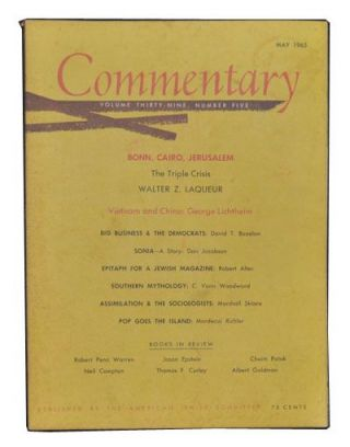 Commentary: Vol. 39, No. 5 (May 1965). Norman Podhoretz, Walter Z. Laqueur, George Lichtheim,...