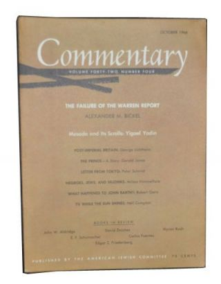 Commentary: Vol. 42, No. 4 (October 1966). Norman Podhoretz, Alexander M. Bickel, Yigael Yadin,...