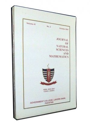 Journal of Natural Sciences and Mathematics, Vol. 41, No. 2 (October 2001): Proceedings of the...