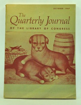 The Quarterly Journal of the Library of Congress, Volume 24, Number 4 (October 1967). Sarah L. Wallace, P. O. Travers, Oliver H. Jr. Orr, William Sólyom-Fekete, Sung Yoon Cho, Ivy Leng-Eng Chua.