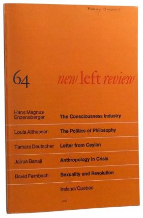 New Left Review Number 64 (November-December 1970). Perry Anderson, Louis Althusser, Hans Magnus...