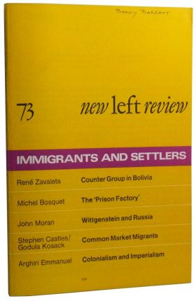 New Left Review Number 73 (May-June 1972). Perry Anderson, Stephen Castles, Godula Kosack, Michel...