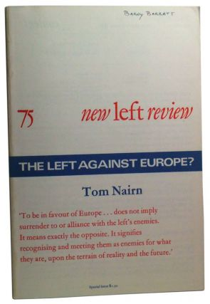 New Left Review Number 75 (September-October 1972). Perry Anderson, Tom Nairn