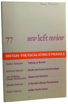 New Left Review Number 77 (January-February 1973). Perry Anderson, Anthony Barnett, Stanley...