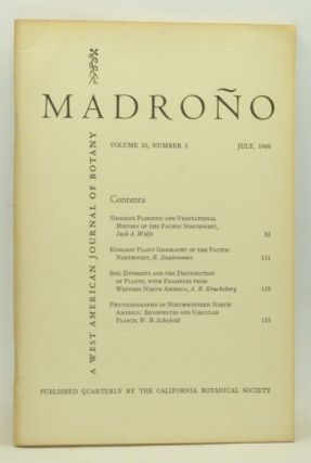 Madroño: A West American Journal of Botany. Volume 20, Number 3 (July 1969). John H. Thomas, Jack A. Wolfe, R. Daubenmire, A. R. Kruckeberg, W. B. Schofield.