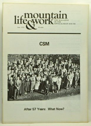 Mountain Life & Work, Volume 46, Number 6 (June 1970). Thomas Parrish, Loyal Jones, Philip H....