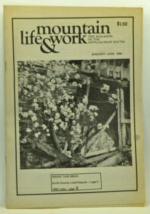 Mountain Life & Work, Volume 62, Number 1 (January-June 1986). Warren Wright