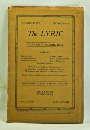 The Lyric, Volume 15, Number 4 (Winter, 1936). Leigh Hanes