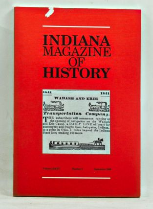 Indiana Magazine of History, Volume 85, Number 3 (September 1989). James H. Madison, George P....
