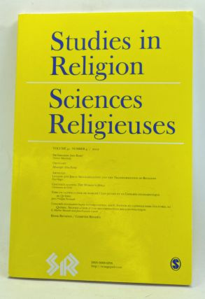 Studies in Religion / Sciences Religiouses. Volume 41, Number 4 (2012). Alain Bouchard, Norton...