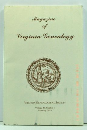 Magazine of Virginia Genealogy, Volume 48, Number 1 (February 2010). Barbara Vines Little, Susan...