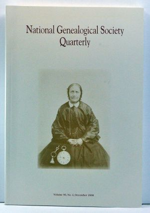 National Genealogical Society Quarterly, Volume 96, Number 4 (December 2008). Thomas W. Jones,...