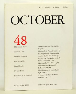 October 48: Art, Theory, Criticism, Politics (Spring 1989). Joan Copjec, Douglas Crimp, Rosalind...
