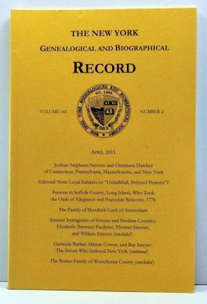 The New York Genealogical and Biographical Record, Volume 142, Number 2 (April 2011). Laura...