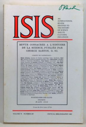 ISIS: An International Review Devoted to the History of Science and Its Cultural Influences,...