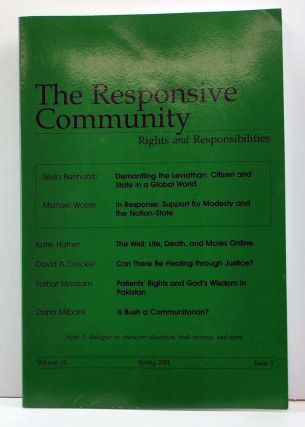 The Responsive Community: Rights and Responsibilities. Volume 11, Issue 2 (Spring 2001). Amitai...