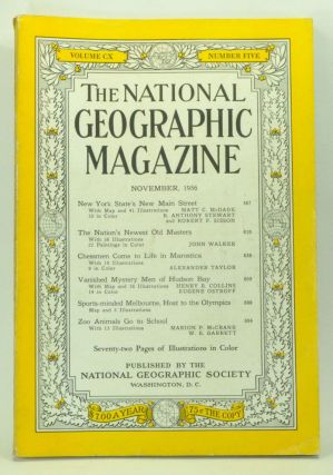 The National Geographic Magazine, Volume 110, Number 5 (November 1956). Melville Bell Grosvenor, Matt C. McDade, B. Anthony Stewart, Robert F. Sisson, John Walker, Alexander Talor, Henry B. Collins, Eugene Ostroff, Marion P. Garrett McCrane, W. E.