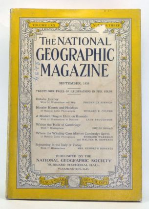 The National Geographic Magazine, Volume 70, Number 3 (September 1936). Gilbert Grosvenor, Frederick Simpich, Willard R. Culver, Lady Broughton, Philip Broad, Bernard Wakeman, Walter M. Edwards, Mrs. Kenneth Roberts.
