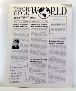 Tech Book World, Including Scien-Tech Index, Volume 1, Number 1 (October 1, 1945). Hobart...