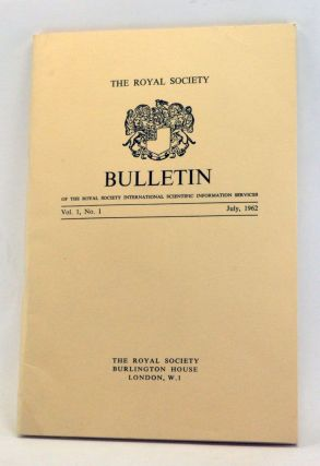 Bulletin of the Royal Society International Scientific Information Services, Volume 1, Number 1...