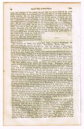 Sparks - Life and Writings of Washington [original single article from The Foreign Quarterly...
