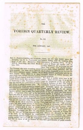 Memoirs of Varnagen von Ense [original single article from The Foreign Quarterly Review, Volume...