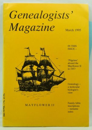 Genealogists' Magazine: Journal of the Society of Genealogists, Volume 25, Number 1 (March 1995)....
