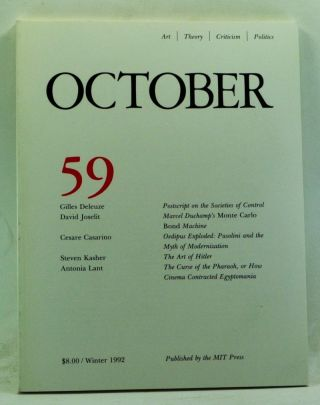 October 59: Art, Theory, Criticism, Politics (Winter 1992). Joan Copjec, Rosalind Krauss, Annette...