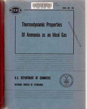 Thermodynamic properties of ammonia as ideal gas (United States. National Bureau of Standards....