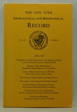 The New York Genealogical and Biographical Record, Volume 129, Number 2 (April 1998). Harry Jr....
