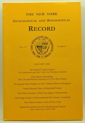 The New York Genealogical and Biographical Record, Volume 137, Number 1 (January 2006). Harry Jr....
