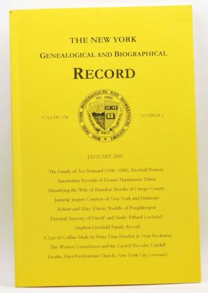 The New York Genealogical and Biographical Record, Volume 138, Number 1 (January 2007). Patricia...