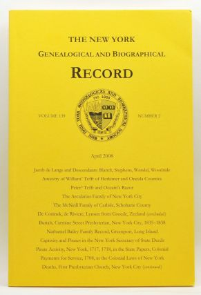 The New York Genealogical and Biographical Record, Volume 139, Number 2 (April 2008). Patricia...